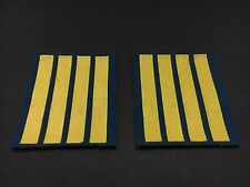 PAIR OF RUSSIAN AIR FORCE OFFICER CADET SERVICE STRIPES -4 YEARS
