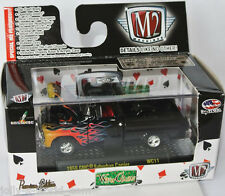M2 Machines Wild Cards - 1958 GMC SUBURBAN CARRIER - black/flames - 1:64 WC11
