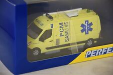 PERFEX 404 - RENAULT MASTER LONG SAMU 45 JAUNE Poste Commandement medical 1/43