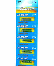 5x  27A  12V Alkaline  batteries by  Eunicell   L828 MN27   A27   battery
