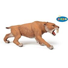 Papo Smilodon Sabre Tooth Tiger - Figure High Quality Detailed Plastic Dinosaur