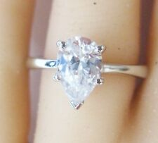 White Clean Sparkling D/SI Clarity 1.10 Carat Pear Shape Natural Diamond Ring