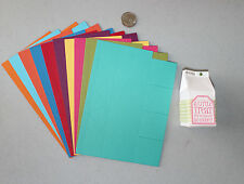 Stampin' Up New Brights Collection Mini Milk Carton Die Cuts 10