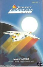 Airline Timetable - Jersey European - 31/10/99 - Issue 1 - S