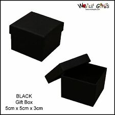 12 Black Earring Jewellery Boxes Square Ring Gift Boxes