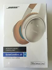 New White Bose QuietComfort 25 QC25 Headband Headsets for Apple