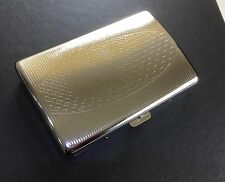 Super King Size Highly Polished Metal Cigarette Case BOX -Holds 16-18 Cigarettes