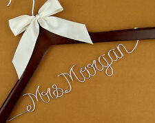 Personalized wedding Hanger, Wire Name bride Hanger, Wedding dress hanger