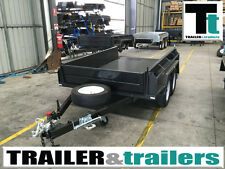 "Tandem full checker plate Heavy Duty NEW TYRES 15"" High SideS 10x6  Box Trailer"
