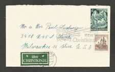 Austria Uber Christkindl Label tied to 1963 cover to USA