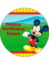 MICKEY MOUSE 19CM REAL KOPYKAKE EDIBLE ICING IMAGE BIRTHDAY CAKE TOPPER