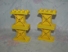 Lego Duplo Yellow Support Stands Stanchions Pillars