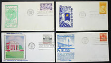 US postage set of 4 Illustrated covers Letters envelopes FDC USA lettere (h-8332