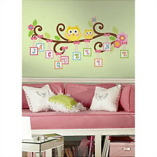 SCROLL TREE LETTER BRANCH wall stickers 98 decal owl flower alphabet personalize