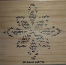 NEW MSE! My Sentiments Exactly! Mounted Wood Rubber Stamp V159 Snowflake