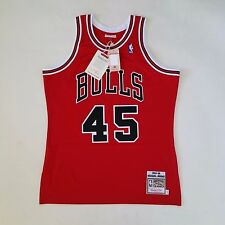100% Authentic Michael Jordan Mitchell & Ness 94 95 Bulls NBA Jersey Size 44 L