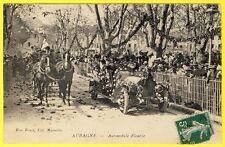 cpa 13 - AUBAGNE (Bouches du Rhône) FÊTE AUTOMOBILE FLEURIE Animée Très rare