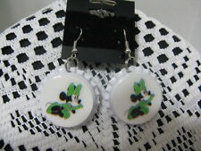 "1"" Bottle Cap Image Earrings ~ St Patrick Day ~ Handcrafted ~ **Gift Idea"