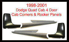 1998-01 DODGE RAM P/U 4DR QUAD CAB OUTER ROCKER PANELS AND CAB CORNERS PAIR