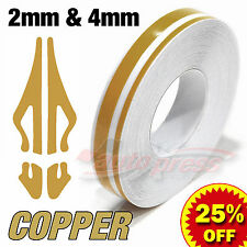 "12mm 1/2"" PinStripe PinStriping Pin Stripe Tape Decal Vinyl Sticker COPPER GOLD"