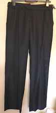 Coast UK14 EU42 US10 new black Orla pinstriped lined trousers with 88% wool