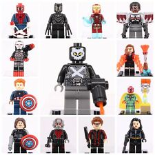 13Pcs SuperHeroes DC Marvel Captain America Ant-Man Black Panther Fit to Lego