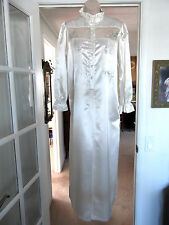 NEW Jodie Arden SATIN Brushed Back NIGHTGOWN~IVORY~LACE~EMBROIDERY~SMALL/MEDIUM