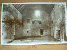 VINTAGE POSTCARD SCOTLAND - THE GREAT HALL - BLACKNESS CASTLE