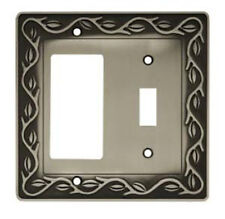 64192 Leaf & Vine Switch / GFCI  Satin Pewter Cover Plate