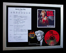 BILLY IDOL Hot In The City LTD TOP QUALITY CD FRAMED DISPLAY+FAST GLOBAL SHIP