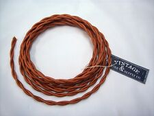 Copper 7ft Cloth Covered Twisted Wire - Antique Fan Restoration Lamp Cord Rewire