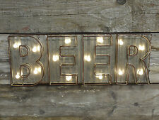 Vintage Beer Home Pub Illuminated LED Light Up Large Letters Man Cave Sign Gift