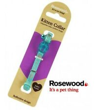 ROSEWOOD KITTEN COLLAR BLUE REFLECTIVE WITH SAFETY CLIP & BELL - SPECIAL OFFER