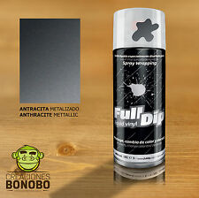 Vinilo liquido Antracita Metalizado FLD203 Full Dip Spray 400ml como Plasti Dip