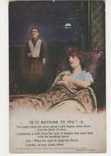 WW1, Is It Nothing to You (3) Postcard, B393