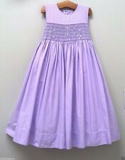 STRASBURG Children Boutique 5Y 5 6 Purple Smocked Easter Dressy Party Dress