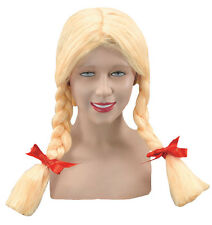 Dutch Pigtail Blonde Fancy Dress Wig Inc FREE Wig Cap