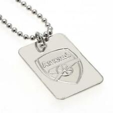 Arsenal F.C. Silver Plated Dog Tag & Chain Official Merchandise