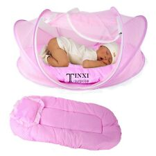 TXSU Baby Foldable Infant Bed Mosquito Net Cotton-padded Mattress Pillow Tent