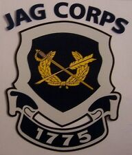 Window Bumper Sticker Military Army Judge Advocate General Corps NEW Decal
