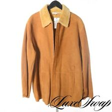 LNWOT Brioni Honey Brown Natural Suede Leather Shearling Fur Coat Jacket 50 A1P