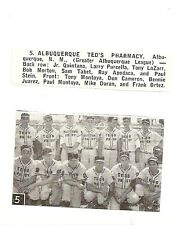 Albuquerque Ted's Pharmacy NM 1957 Baseball Team Picture