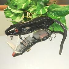 """KDS Custom Top Water Wake Bait Jointed 5"""" Multi Section Rat SwimBait - Blac"""