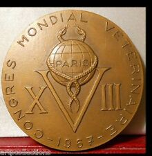 1967 MEDAILLE BRONZE FOND. ANIMALS MEDECINE ECOLES VETERINAIRE BOURGELAT