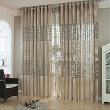 200cm x 100 Tree leaf Tulle Door Window Curtain Drape Panel Sheer Scarf Valances