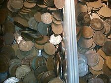 100 copper coins british Pennies halfpennies farthings very old mixt lot