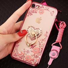 US Shockproof Bumper Silicone TPU Bling Clear Case Cover For iPhone 7 & 7 Plus