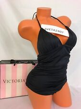 Victoria's Secret Swim~The Flawless~One-Piece~ Shimmer Black~Ruched Sides~Sz M