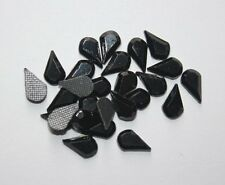 Rhinestone Hot Fix Iron on Tear drop 6x3mm, Heat Press Rhinestones 144pcs, Black