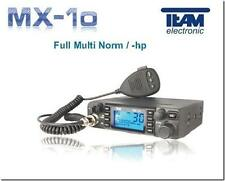 TEAM MX-10 AM / FM COMPLETA Multi NORM 12/24 Volt Lcd Radio CB